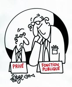 salaire privé fonctionnaires